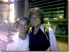 ⑤中国代表選手ZHAO LEI君と私